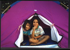 Shivani~Gauri in our tent